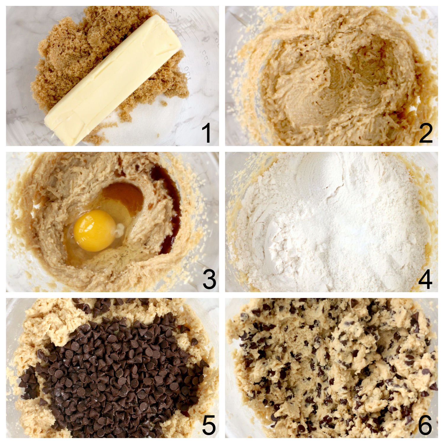 steps for making cookie dough
